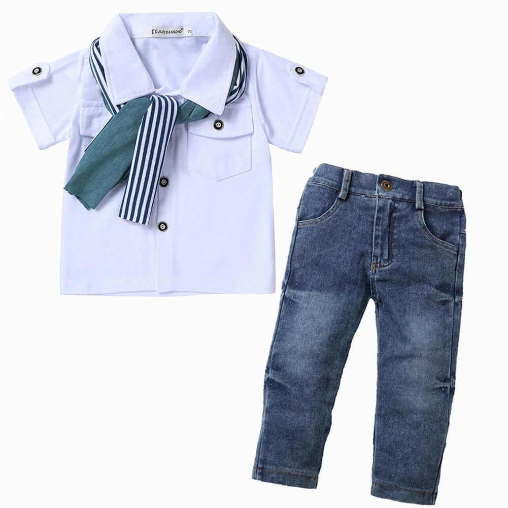 Nouveau Design Mode Garçons Vêtements 3 pièces Ensembles Bébé Vêtements Pour Enfants 2-7 ans boyset 154