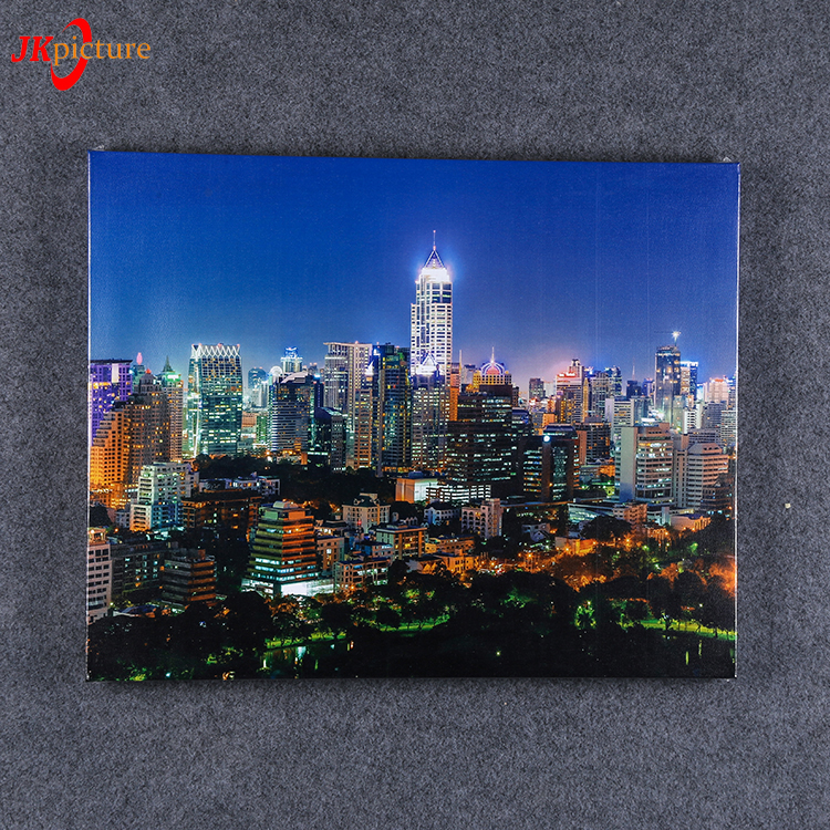 Night landscape with inner frame Chinese Home Decor Wall Art Canvas For Painting