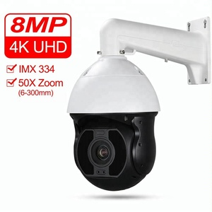 4K Ultra HD IP PoE 8MP High Speed Dome PTZ camera Sony IMX334 50X Optical Zoom Starlight