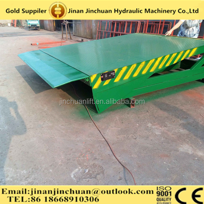 Hydraulic fixed/stationary dock leveler for unloading goods