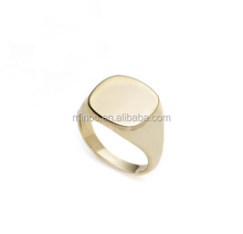 Wholesale cheap customizable signet ring gold filled fashion ring for women