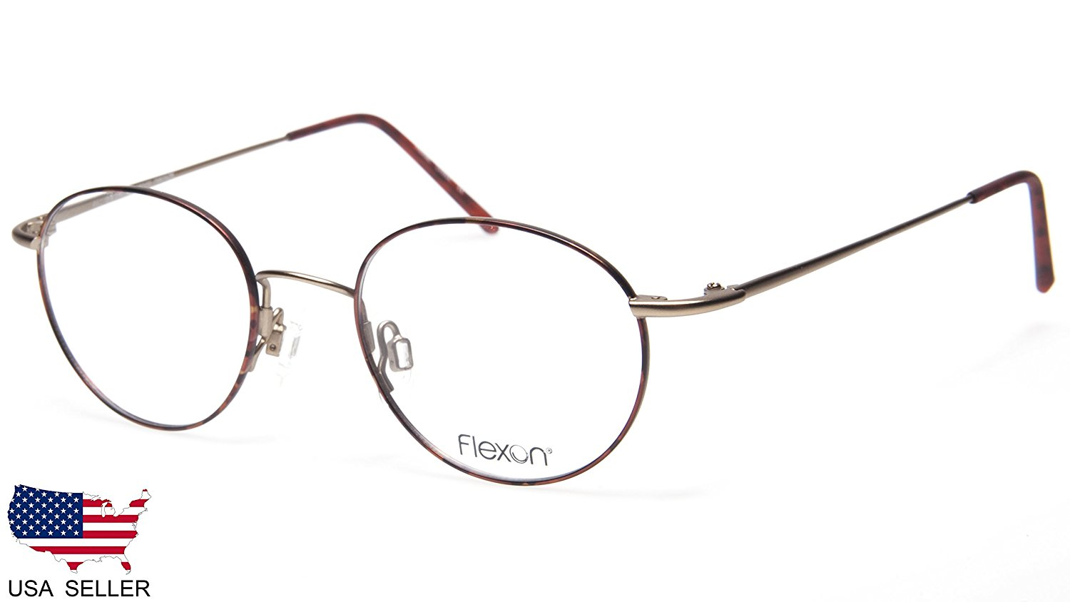 175654e756 Get Quotations · NEW FLEXON 623 215 TORTOISE BRONZE EYEGLASSES GLASSES  FRAME 46-19-135 B39mm