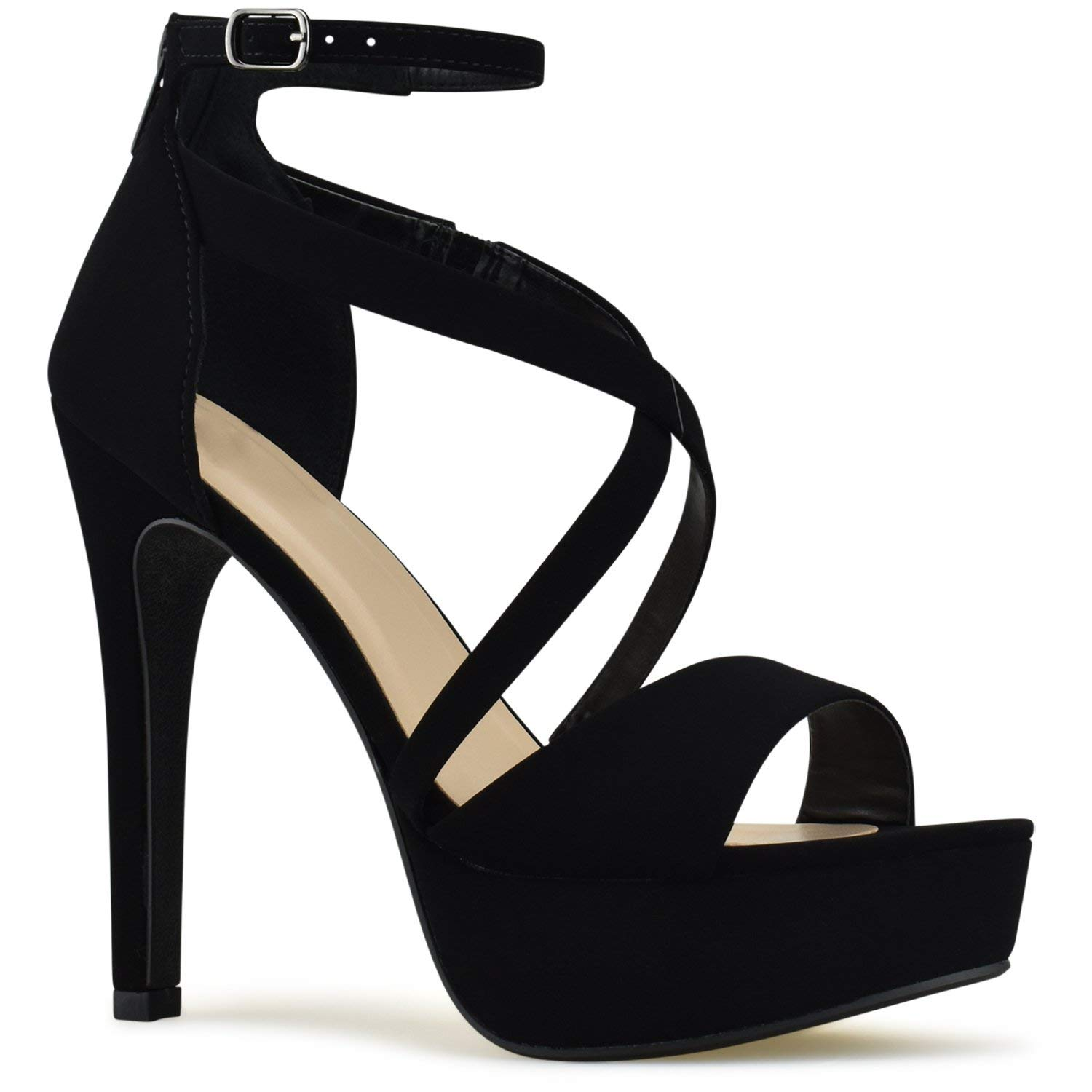 Premier Standard Womens Strappy Open Toe High Chunky Heel - Sexy Stacked Wooden Heel Sandal - Cute Strappy Shoe