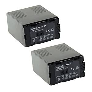 ValuePack (2 Count):Extended Performance Replacement Digital Camera and Camcorder Battery for Panasonic CGA: D54, D54S, D54SE, D54SE/1B, D54SE/1H, CGR-D54S, VW-VBD55, AG: HVX200, HVX200P, DS29, DS29EG