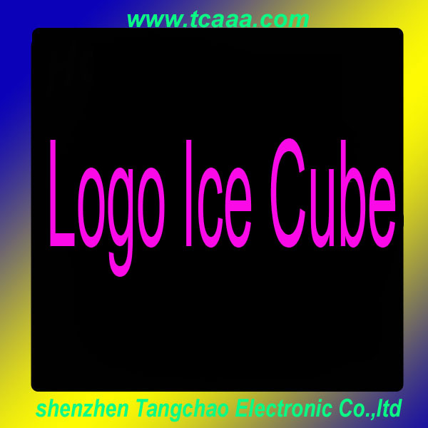 2014 hot sale waterproof flashing led ice cube with logo
