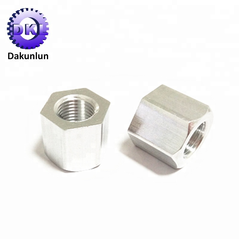 Factory Supply OEM High Precision Lathing Hex Aluminum Nut