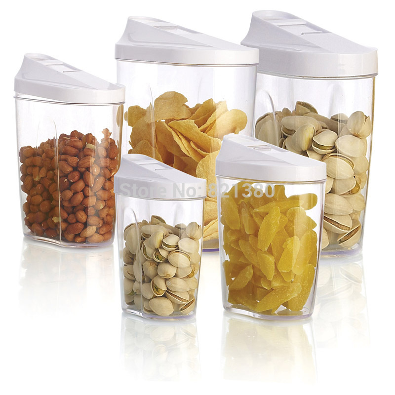 Buy 5pcs food storage organization plastic kitchen storage box nuts tea sugar candy container jar with spout jars set organizer in Cheap Price on Alibaba. ...  sc 1 st  Alibaba & Buy 5pcs food storage organization plastic kitchen storage box nuts ...