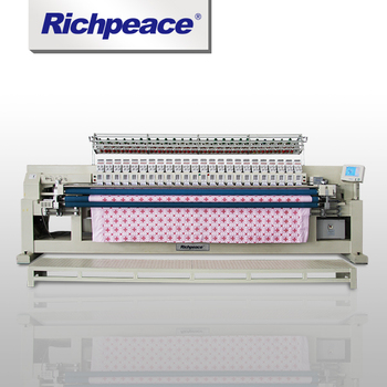 Advanced Single Roll Multi-color  Richpeace Computerized  Quilting and Embroidery Machine