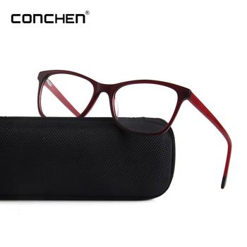 1ee07f17e33 Red Frame Women Wear Non Prescription Acetate Glasses 2019 ...