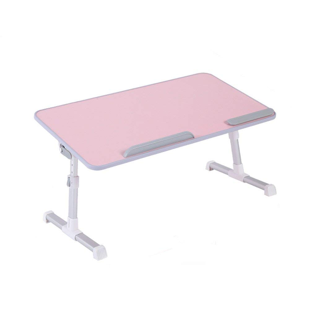 GAOYANG Adjustable Bed Table, Portable Laptop Standing Desk, Foldable Sofa Breakfast Tray, Notebook Stand Reading Holder for Couch Floor, Laptop to Make A Table, Lifting Small Table