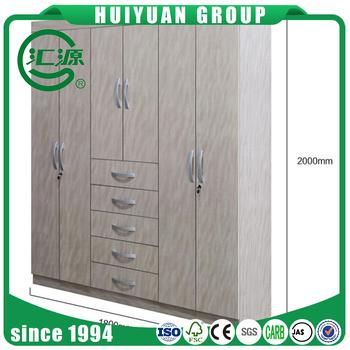 Different colour steel almirah latest product 6 door bedroom wardrobe solid wood wardrobe design