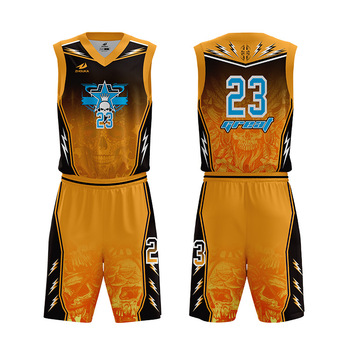 db1a1ed016e Wholesale Custom Orange Sleeveless Sublimation Basketball Uniforms Boys  Blank Basketball Jerseys For Sale