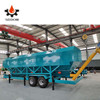 horizontal frame type cement silo with dust collector