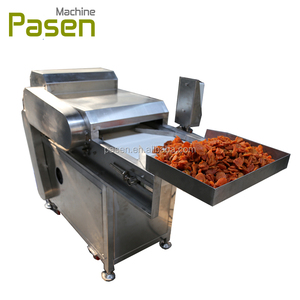 Preserved fruit cutting machine / Dried fruit cube cutter / Dry berry dicing machine