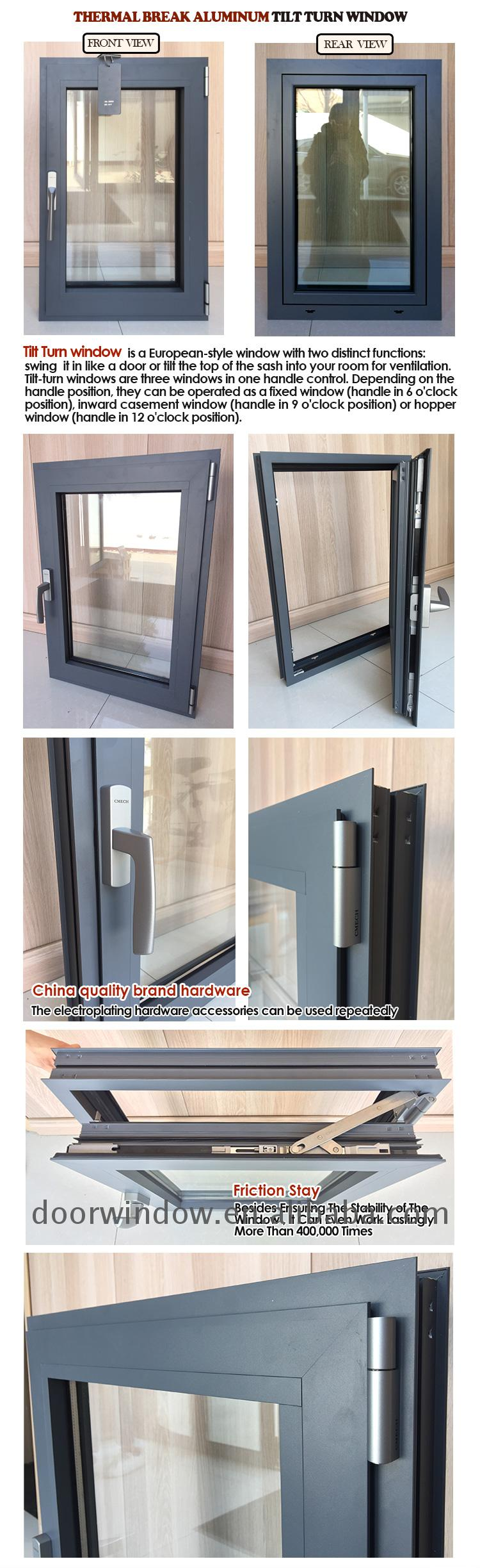 Thermal-break aluminum windows thermal break window security