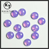 Drilled holes round beads rhinestone in opal purple