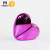 purple color heart shaped glass small perfume bottles with screw neck