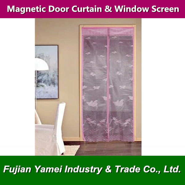 DIY Magnetic Door Curtains mosquito net for Home Use