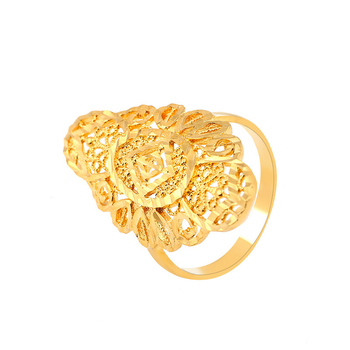 Xuping imitation jewellery hot sale hollow design 24k gold plated ring dubai brass alloy ring golden ring for women