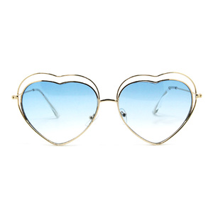 American Polarized Lens Heart Design Metal CE Sunglasses 2018