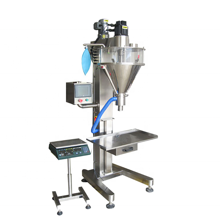 YTK-F50 semi automatic powder auger filler machine/auger filling machine for chemical, milk,