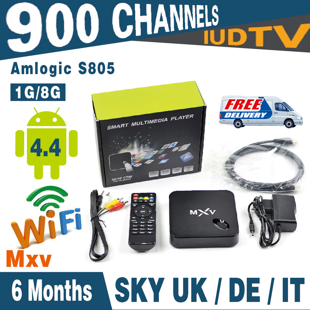 Smart Iptv Box MXV With IPTV Apk IUDTV 6 Months Full Europe Iptv