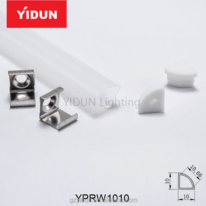 YIDUN corner waterproof led alu profile ip65/high quality cleanroom led lighting tube for led strip