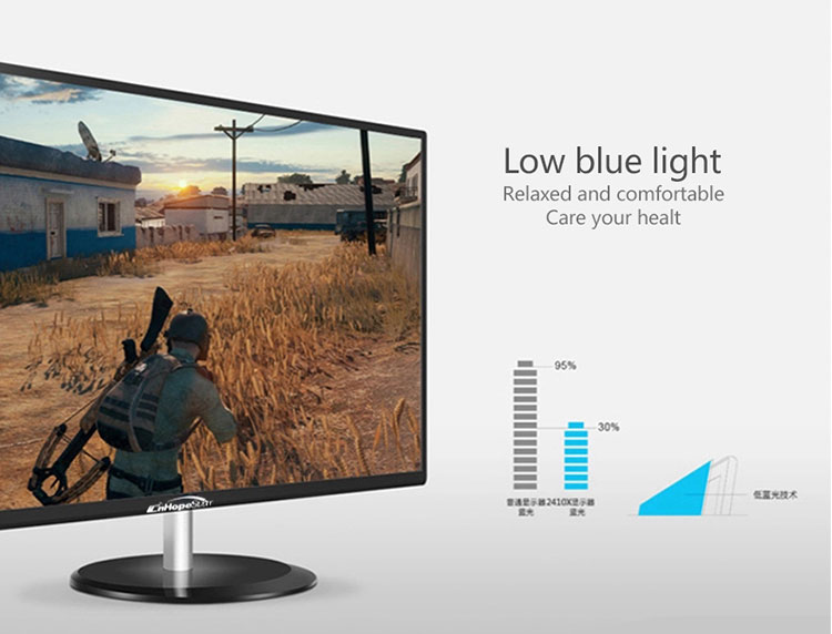 "24"" Full HD 1080P Gaming Monitor with Ultra Slim Bezel and VGA HD Ports"