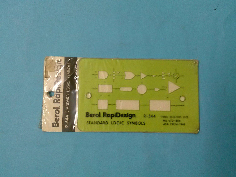 RapiDesign 7 5//8 x 1 5//9 Berol R R-59 Made in the USA Plotting Symbols R