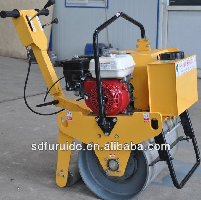 Mini Single Drum walk-behind Vibratory Small soil compactor,Road Roller by skillful manufacture