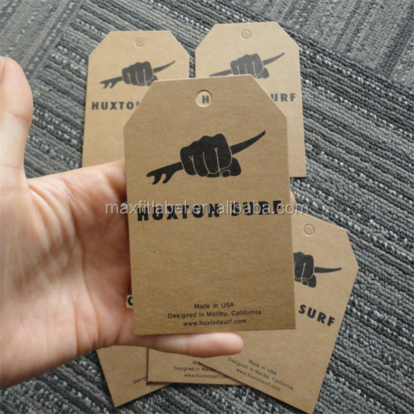 2016 Custom high quality kraft paper Hang Tags Swing Tags with competitive price