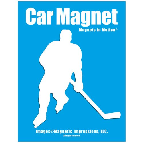 Ice Hockey Player Male Car Magnet