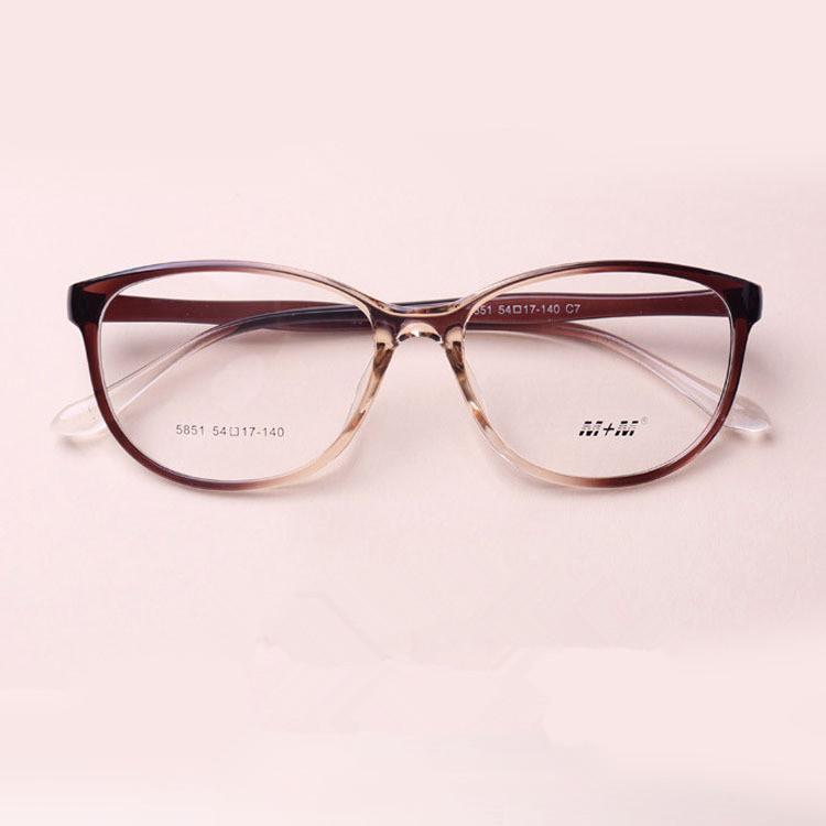 43f7ac9d890c TR 90 Cat Eyes Black Brown Wine Red Eyeglasses Fresh Myopia Spectacle  Student Fashion Prescription Glasses