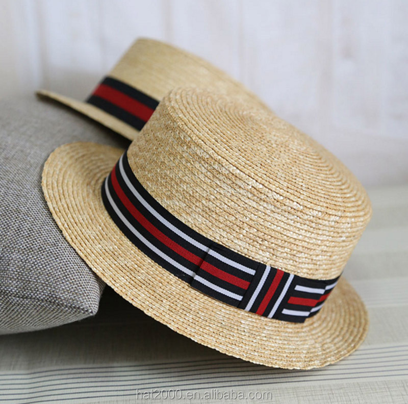 China Wholesale Custom Paper Straw Boater Straw Hat