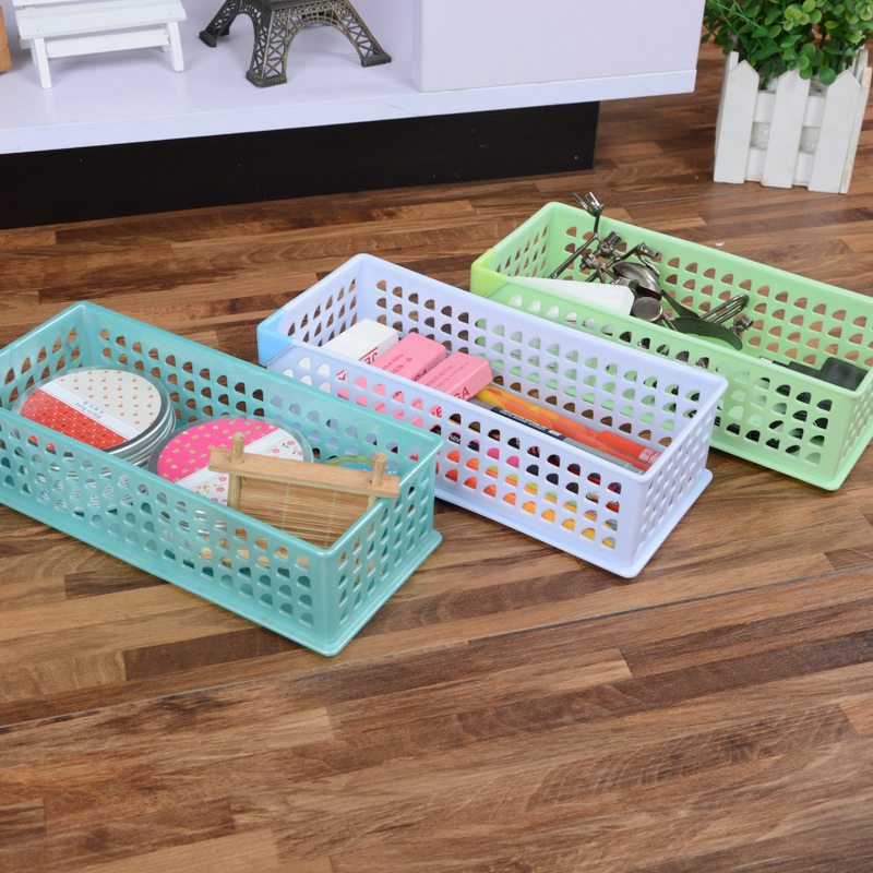 environmental protection material plastic mesh baskets for storage sundries