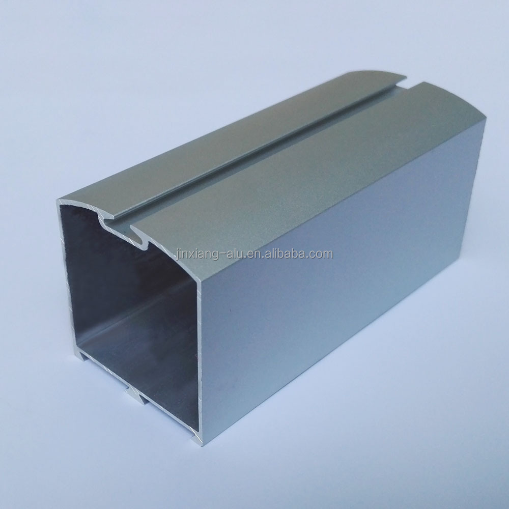 6063 T5 aluminum profile square curved with sliding channel sandblast anodized silver for India 18 years manufacturer