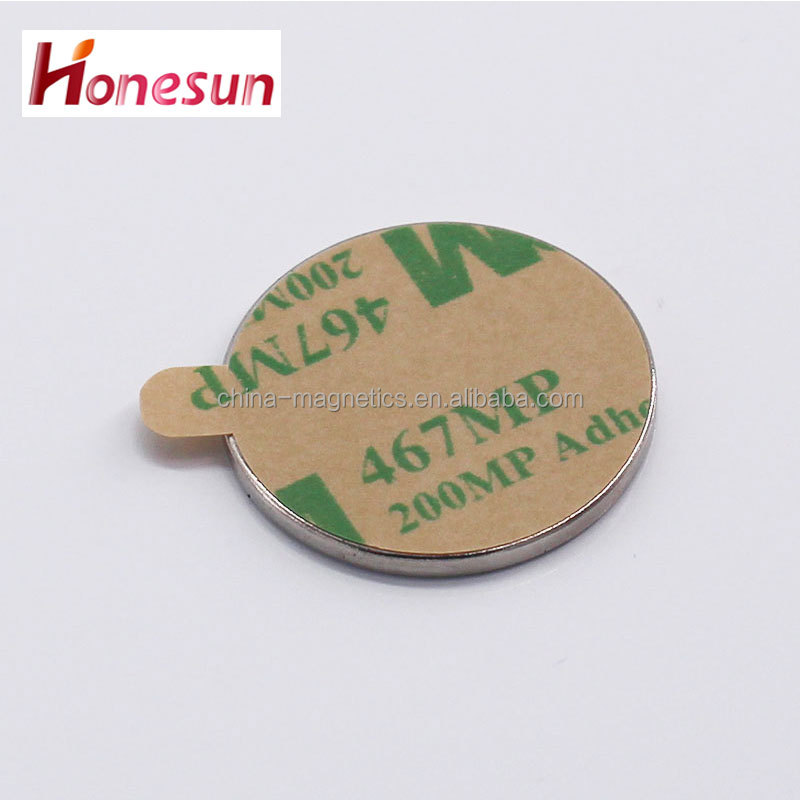 strong neodymium magnet diameter round shape with 3M adhesive