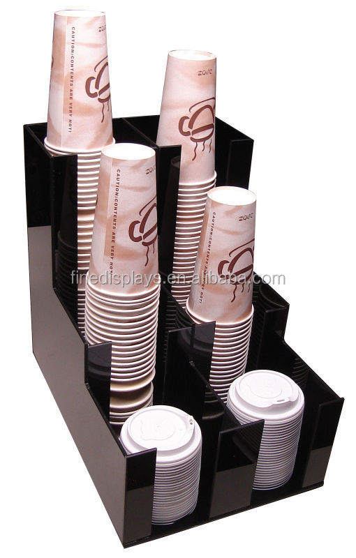 Cup lid dispensers Holder coffee caddy Rack dispenser counter organizer (CD-A-283)