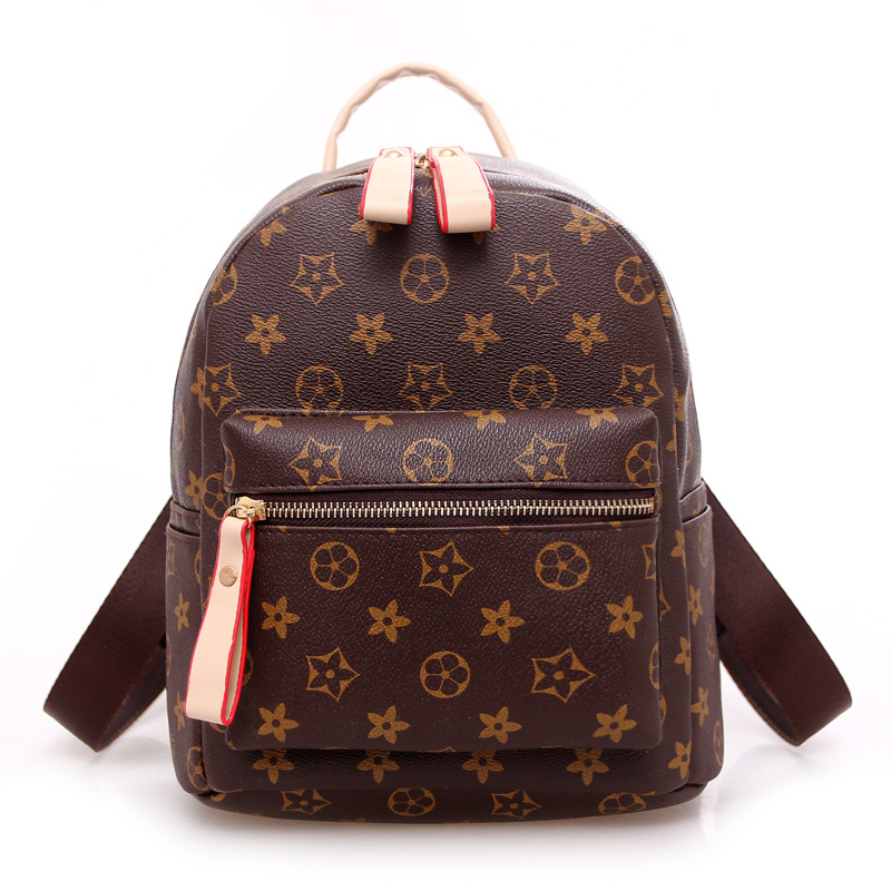 2015 Vintage Printed Brand Designed Classy Winter Retro Leather Backpack Pretty Casual Backpacks School Bag T4780
