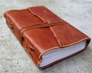 """Antique Brown Leather Journal Diary (Handmade)-Leather Cord Coptic bound 25% off Sale + SPECIAL OFFER NOW! (6.8"""" by 5.2"""")"""