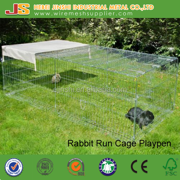 Rabbit Enclosure Small Animal Run Pet Cage Rabbit Playpen Hutch With Cover