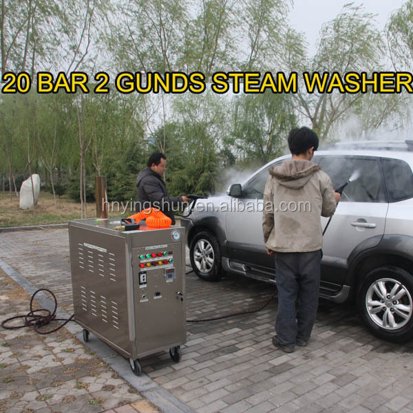 2015 new CE 30 bar diesel mobile vapor steam car wash equipment/vapor wheelie bin cleaning machine
