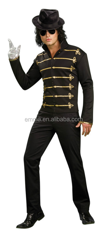 New Arrival Halloween costumes Blck Military Jacket Costume for Halloween for Costume party BMG-2176
