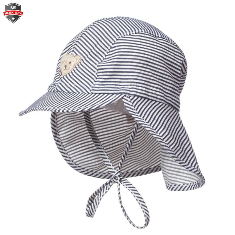 Custom Striped Summer Beach Kids Toddler Baby Boys Flap Sun Protection Swim  Hat - Buy Kids Sun Hats 6806bd80fea