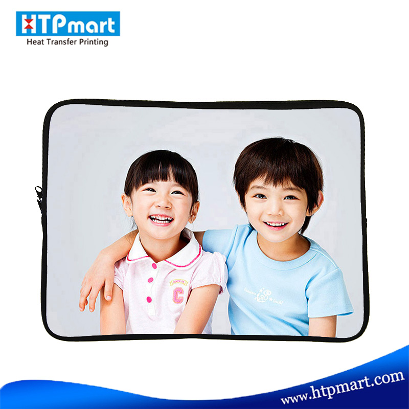custom printing sublimation handle neoprene laptop sleeve with zipper