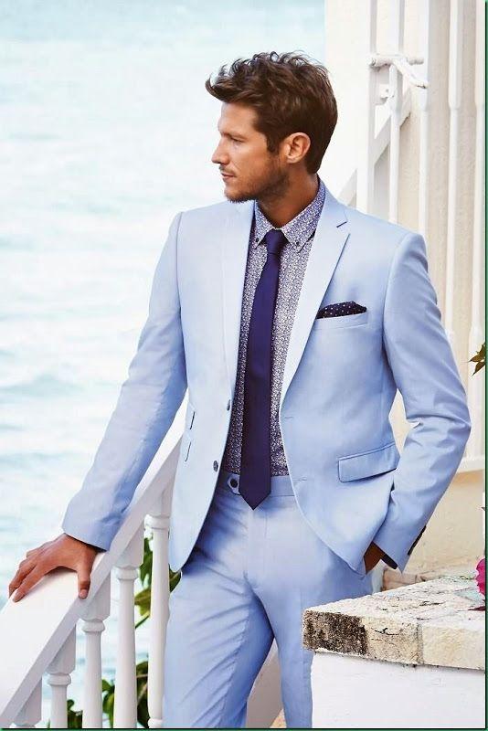High Quality Blue Light Blazer for Men Promotion-Shop for High ...