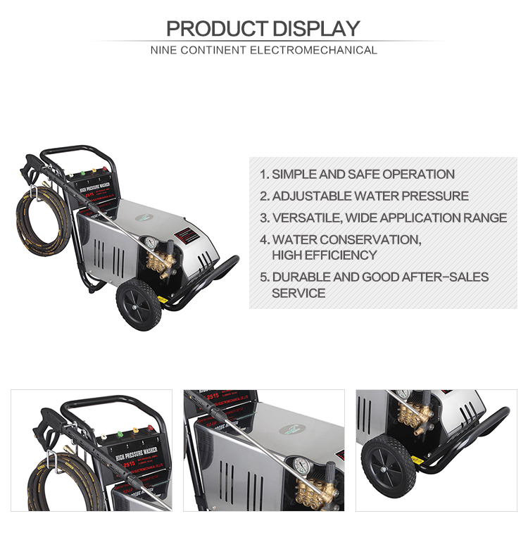 JZ 2515 commercial steam cleaner car wash machine pressure washer