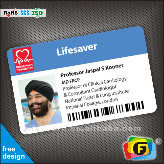Customized Printing Pvc Id Cards/ Plastic Sample Employee Id Cards ...
