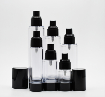 Fantasia 15 ml 30 ml 50 ml 80 ml 100 ml 120 ml Vuoto Nero Airless Cosmetico Belle Mist Spray bottiglia