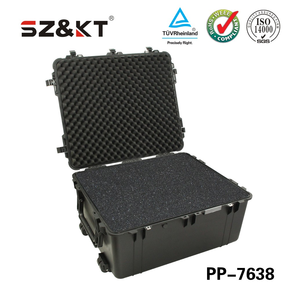 china gold manufacturer hot sale product IP67 hard plastic case transit cases with drawer